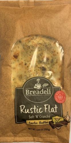 Breadeli Garlic Butter Rustic Flat Bread Perspective: front