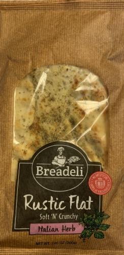 Breadeli Italian Herb Rustic Flat Bread Perspective: front