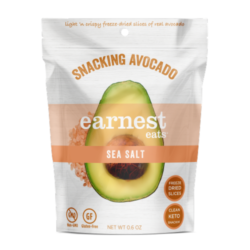 Earnest Eats Dried Avocado Slices - Sea Salt Perspective: front