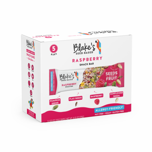 Blake's Seed Based Raspberry Snack Bars Perspective: front