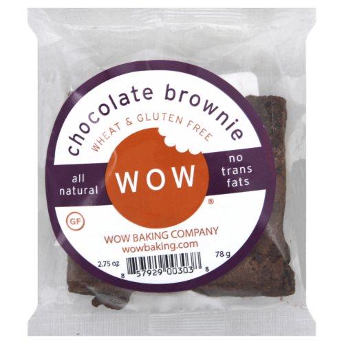 Wow Baking Company Chocolate Brownie Perspective: front