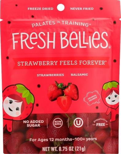 Fresh Bellies Palates in Training Freeze Dried Balsamic Strawberries Perspective: front