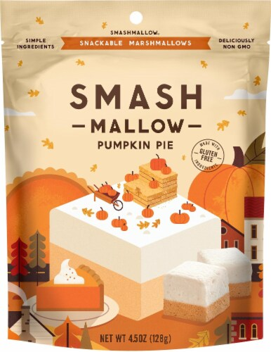 SMASHMALLOW Pumpkin Pie Marshmallows Candy Perspective: front
