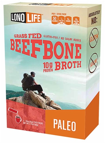 Lonolife Beef Bone Broth Stick Packs Perspective: front