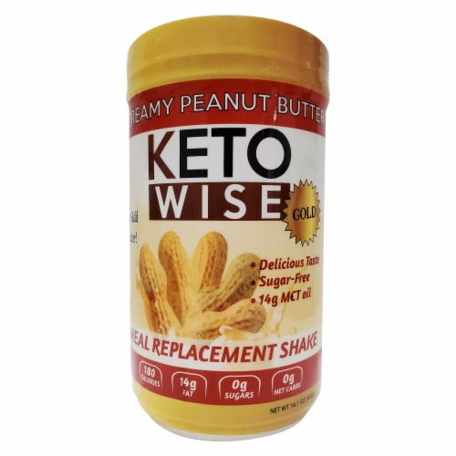 Keto Wise Gold Creamy Peanut Butter Perspective: front