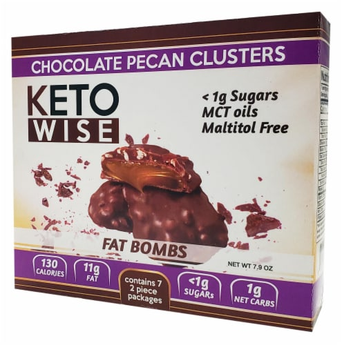 Keto Wise Pecan Clusters Fat Bombs Perspective: front