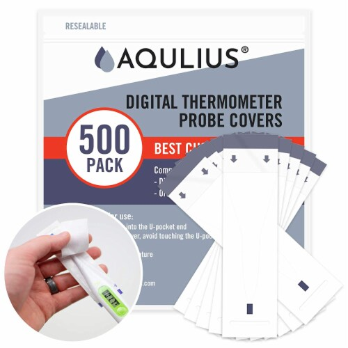 Thermometer Probe Disposable Covers (500 Pack of Protective Sleeves) All Probe Thermometers Perspective: front