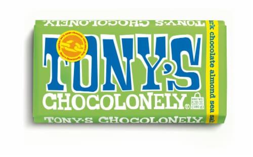 Tony's Chocolonely Almond Sea Salt Dark Chocolate Bar Perspective: front