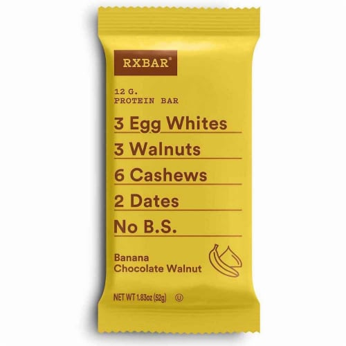 RXBAR Banana Chocolate Walnut Protein Bar Perspective: front