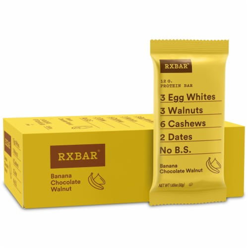 RXBAR Banana Chocolate Walnut Protein Bars 12 Count Perspective: front