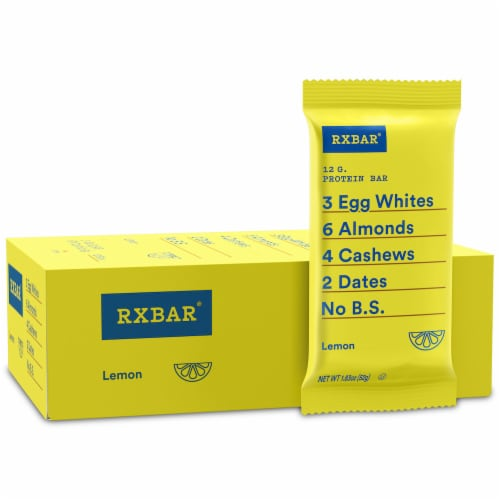 RXBAR Lemon Protein Bars 12 Count Perspective: front