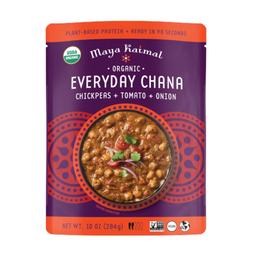 Maya Kaimal Chickpea + Tomato + Onion Everyday Chana Curry Perspective: front