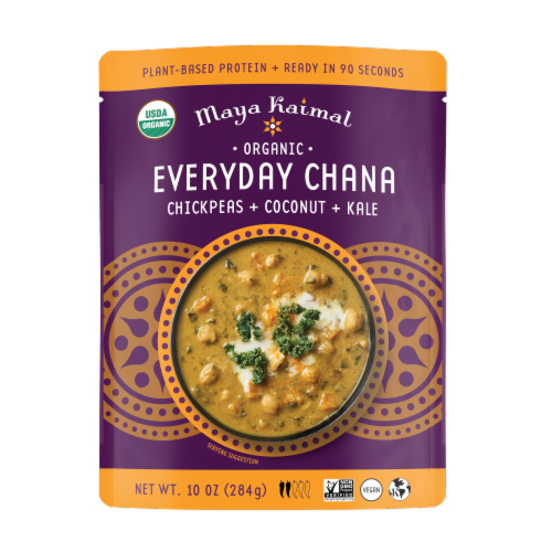 Maya Kaimal Chickpea + Coconut + Kale Everyday Chana Curry Perspective: front
