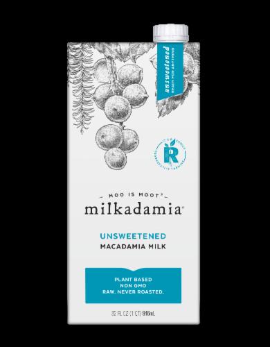 Milkadamia Unsweetened Macadamia Milk Perspective: front
