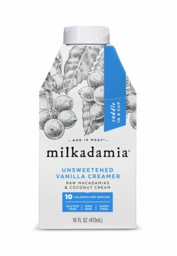 Milkadamia Unsweetened Vanilla Creamer Perspective: front