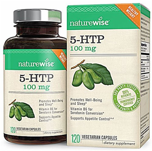 Naturewise 5-HTP Vegetarian Capsules 100 mg Perspective: front