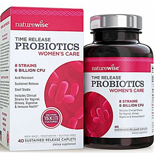 Naturewise  Time Release Women's Care Probiotics Perspective: front