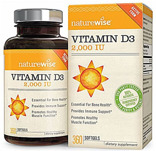 Naturewise Vitamin D3 2000IU Perspective: front