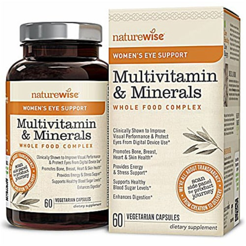 Naturewise  Women's Eye Support Multivitamin Whole Food Complex Perspective: front