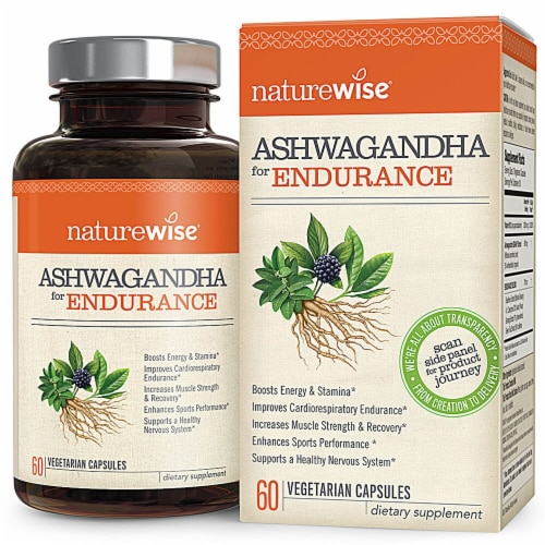 Naturewise  Ashwagandha for Endurance Perspective: front