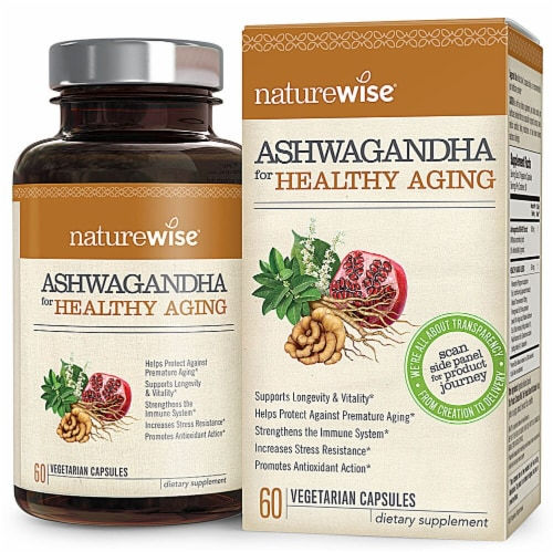 Naturewise  Ashwagandha for Healthy Aging Perspective: front