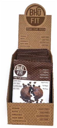 BHU  Fit Organic Plant Protein Cookie   Double Dark Chocolate Perspective: front