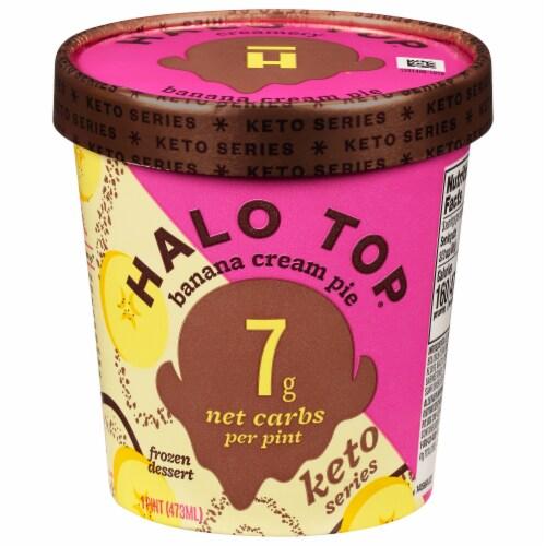 Halo Top Keto Banana Cream Pie Ice Cream Perspective: front