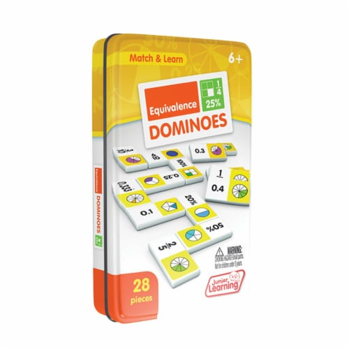Junior Learning JRL487 Equivalence Plastic Dominoes Perspective: front
