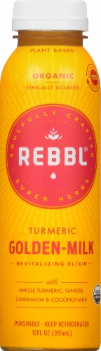 REBBL Tumeric Golden-Milk Revitalizing Elixir Perspective: front