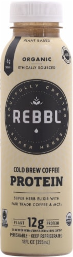 REBBL Organic Protein Cold Brew Coffee Perspective: front