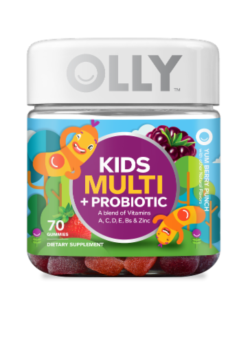 Olly Kids Multi + Probiotic Vitamins Gummies Perspective: front