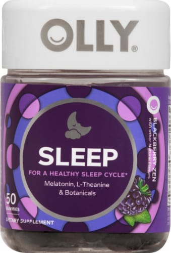 Olly Sleep Blackberry Zen Gummies Perspective: front