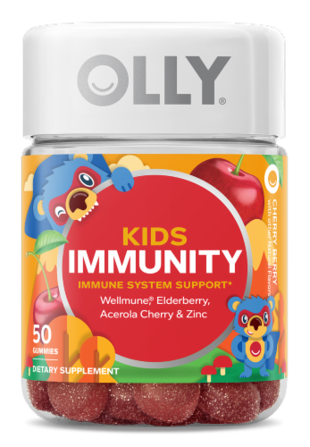 Olly Kids Immunity Dietary Supplement Gummies 50 Count Perspective: front