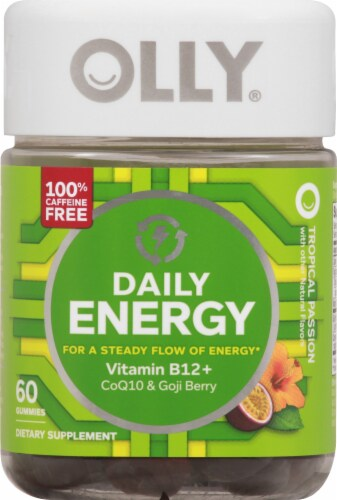 Olly Daily Energy Vitamin Gummies Perspective: front