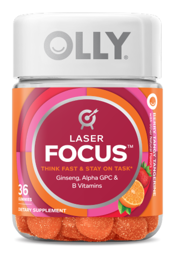 Olly Laser Focus Berry Tangy Tangerine Gummies Perspective: front