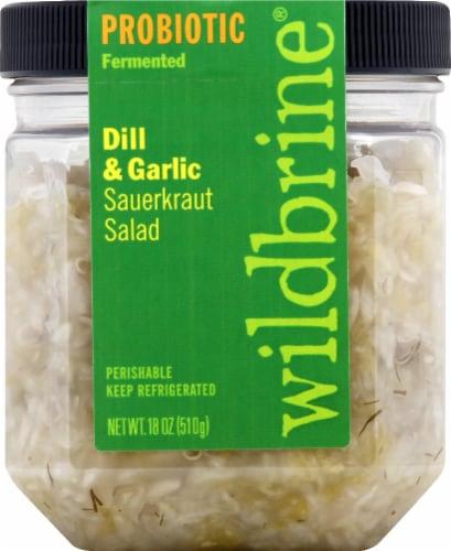 Wildbrine Probiotic Dill & Garlic Sauerkraut Salad Perspective: front