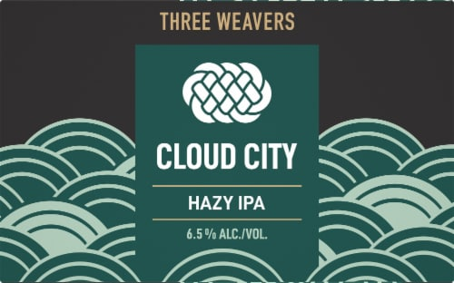 Three Weavers Brewing Cloud City Hazy IPA Perspective: front