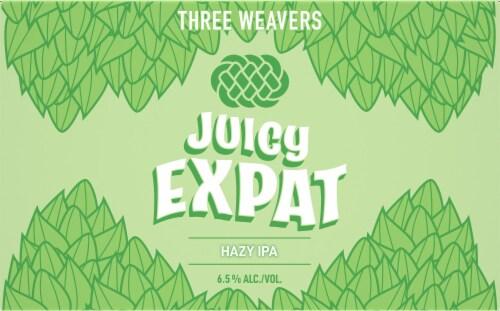 Three Weavers Juicy Expat Hazy IPA Perspective: front