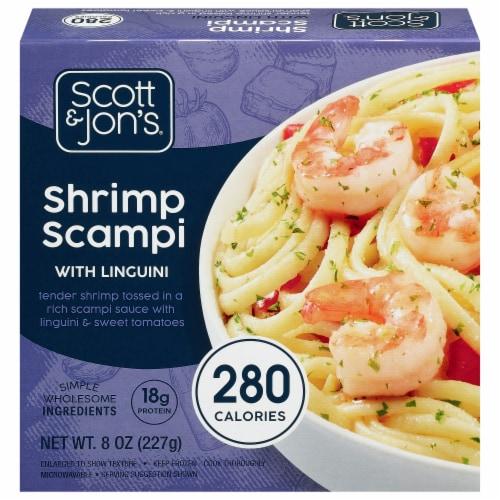 Cheating Gourmet Scott & Jon's Shrimp Scampi Pasta Bowl Perspective: front