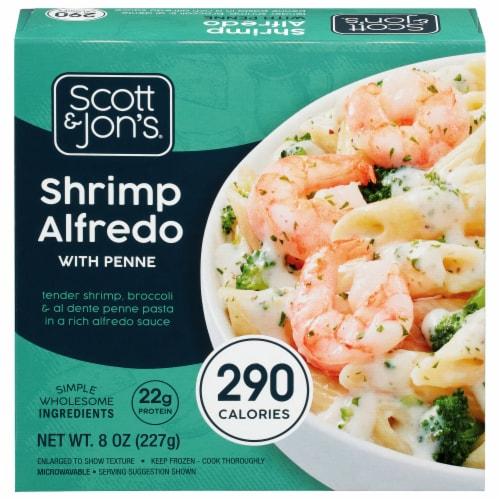 Scott & Jon's Shrimp Alfredo Pasta Bowl Perspective: front