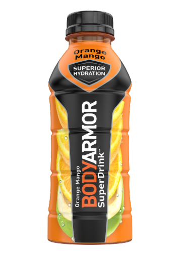 BODYARMOR Orange Mango Sports Drink Perspective: front