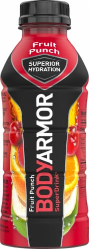 BODYARMOR SuperDrink Fruit Punch Sports Drink Perspective: front