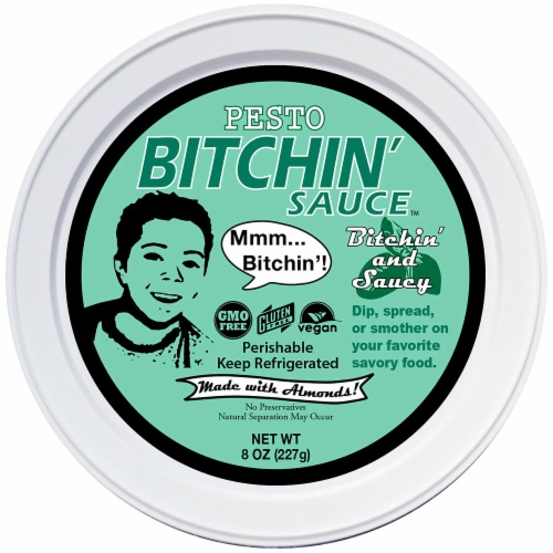 Bitchin' Sauce Gluten Free Pesto Dip Perspective: front