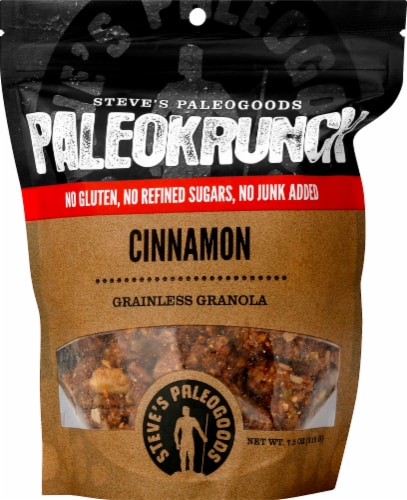 Steves PaleoKrunch Grainless Granola Cinnamon Perspective: front