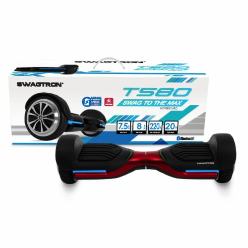 Swagtron T580 Bluetooth Hoverboard with Speaker Smart Self-Balancing Wheels Perspective: front