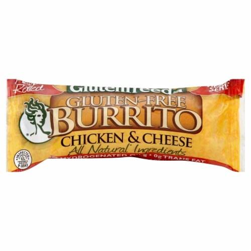 Glutenfreeda's Gluten-Free Chicken & Cheese Burrito Perspective: front