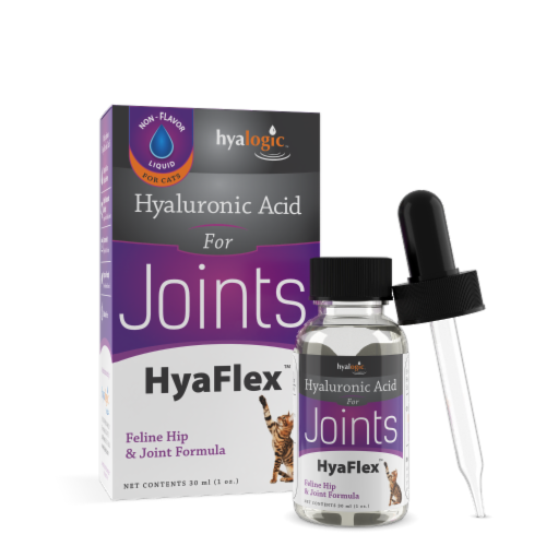 Hyalogic HyaFlex Oral Hyaluronic Acid Liquid for Cats Perspective: front