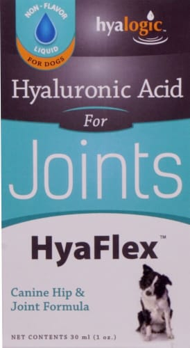 Hyalogic HyaFlex Oral Hyalyronic Acid Canine Hip & Joint Formula Perspective: front