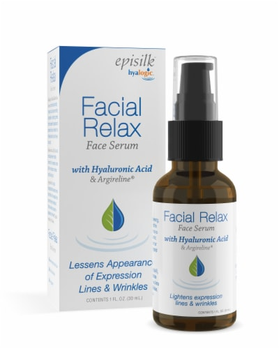 Facial Relax Serum with Hyaluronic Acid Perspective: front