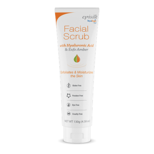 Facial Scrub with Hyaluronic Acid Perspective: front